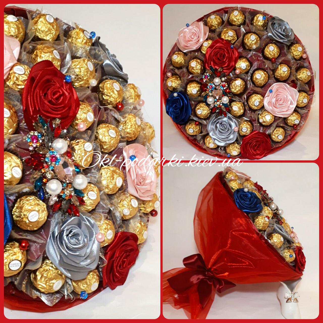 Букет из  конфет Ferrero Rocher Яркий Марсель