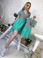 Одежда для мамы и дочки платье с шифоновой юбкой tez512102, фото 1