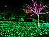 Гирлянда уличная Нить, 200 led, зеленая, белый/чёрный провод, 20м., фото 3