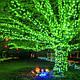 Гирлянда уличная Нить, 200 led, зеленая, белый/чёрный провод, 20м., фото 4