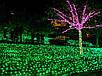 Гирлянда уличная Нить, 100 led, зеленая, белый/чёрный провод, 10м., фото 3