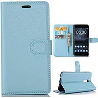 Чехол-книжка Litchie Wallet для Nokia 6 Голубой