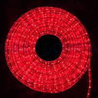 Гирлянда Дюралайт светодиодный шланг, Красный, круглый, 20м.