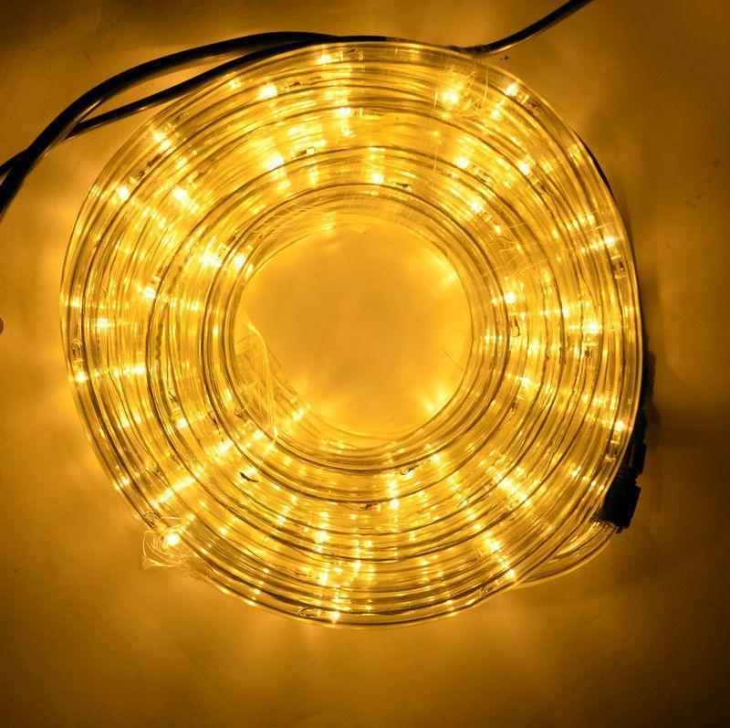 Гирлянда Дюралайт светодиодный шланг, Желтый, круглый, 10м.