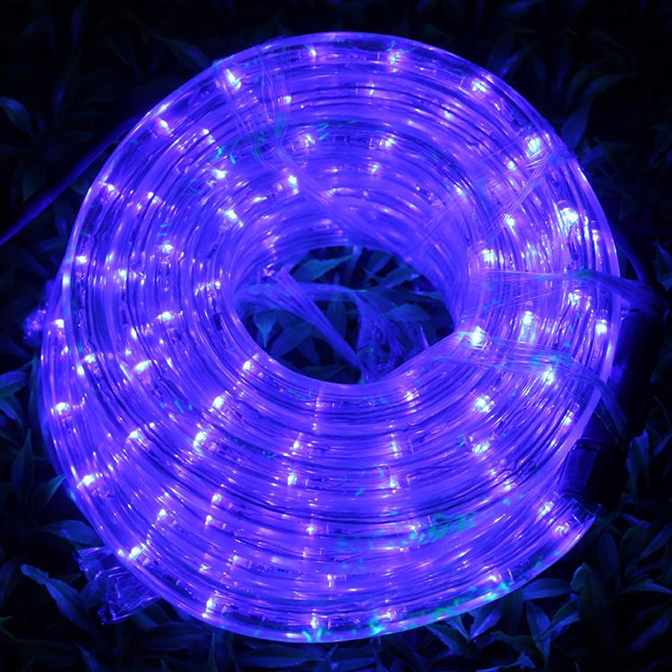 Гирлянда Дюралайт светодиодный шланг, Фиолетовый, круглый, 10м.