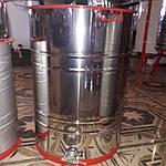 Медогонка 3х рам Бак, ротор, кассеты из нержавеющей стали, фото 2