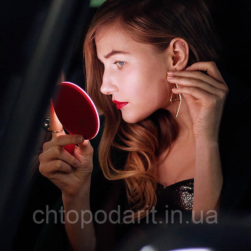 Зеркало светодиодное LED для макияжа с функцией беспроводной зарядки Код 11-8011