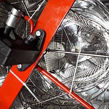 Медогонка 3-х рамочная, неповоротная с нержавеющей стали РКС на подставке