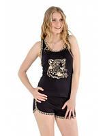 Женский комплект майка-борцовка  с шортами вискозный 222, фото 1