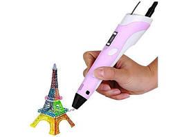 3Д ручка з LCD дисплеєм Smart pen 3D-2 рожева
