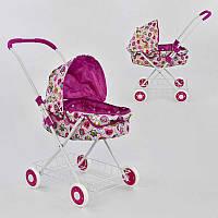Кукольная коляска для кукол и пупсов с перекидной ручкой с сеткой для продуктов и мелочей, упакована в кульке
