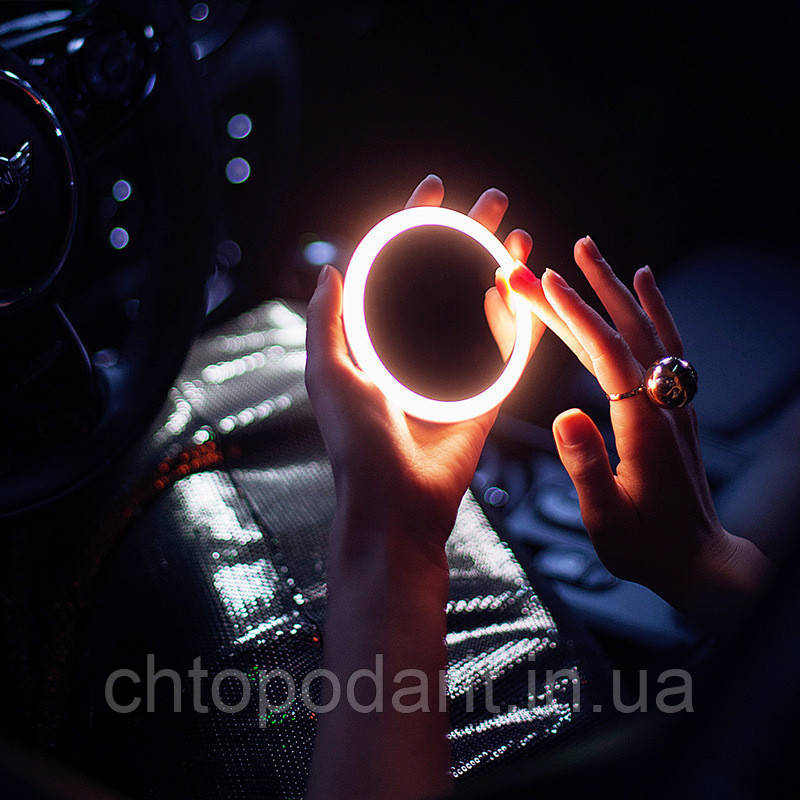 Зеркало светодиодное LED для макияжа с функцией беспроводной зарядки Код 11-8153