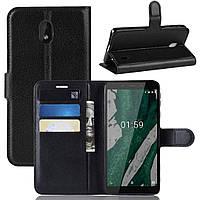 Чохол-книжка Litchie Wallet для Nokia 1 Plus Чорний