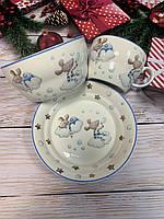 Набор детской посуды Голубые мышки 924-487
