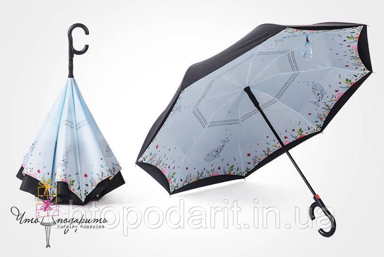 Зонт наоборот - полевые цветы Код 10-1736