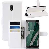 Чохол-книжка Litchie Wallet для Nokia Plus 1 Білий