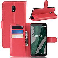 Чохол-книжка Litchie Wallet для Nokia 1 Plus Червоний