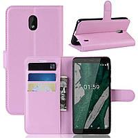 Чохол-книжка Litchie Wallet для Nokia 1 Plus Світло-рожевий