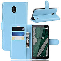 Чохол-книжка Litchie Wallet для Nokia Plus 1 Блакитний