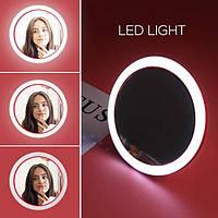 Зеркало светодиодное LED для макияжа с функцией беспроводной зарядки Код 11-7905