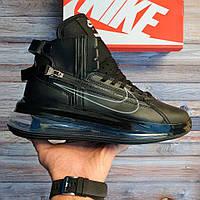 Мужские кроссовки Nike Air Max 720 Saturn Black / Найк Аир Макс 720 Сатурн, черные