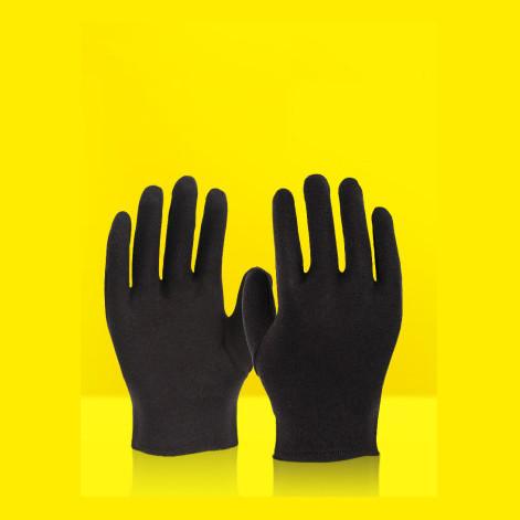Черные хлопчатобумажные + эластан перчатки (размер L).