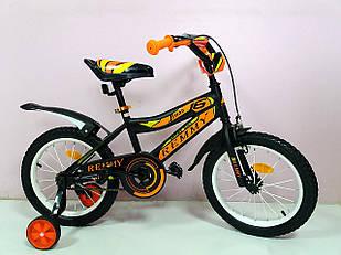 """Велосипед 16""""""""- Remmy BOSS черно-оранжевый глянец"""
