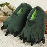 Мягкие тапочки кигуруми зеленые лапы   Код 10-2553, фото 3