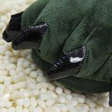 Мягкие тапочки кигуруми зеленые лапы   Код 10-2553, фото 5
