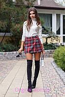 Короткая женская юбка-шорты из замши tez211130