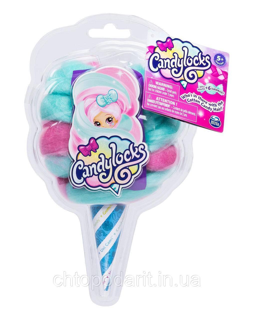 """Кукла """"Кендилукс сладкая вата"""" Candylocks с цветными волосами Код 12-1927"""