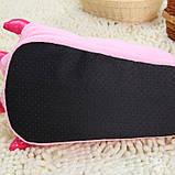 М'які тапочки кигуруми ніжно-рожеві лапи Код 10-2633, фото 4
