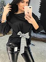 Хлопковая женская блуза с поясом tez5813205