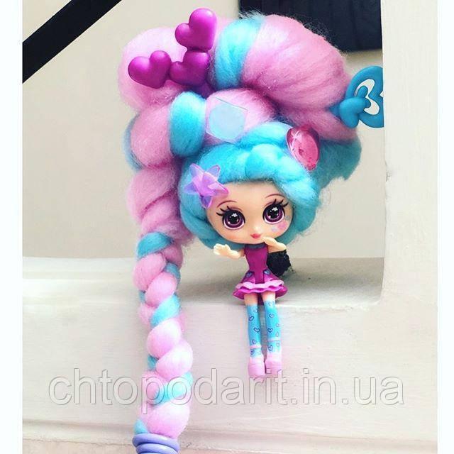 """Кукла """"Кендилукс сладкая вата"""" Candylocks с цветными волосами Код 12-2066"""
