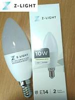 Светодиодная лампа свеча 10W E14 4000K Z-light