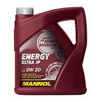 Моторное синтетическое масло Mannol Energy Ultra JP 5w20 4л.