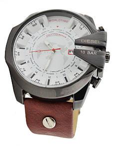 Мужские часы Diesel Men's 10 Bar DZ-4188 коричнево-белый