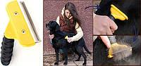 Щетка для груминга средних собак, кошек Furminator deShedding tool Medium Фурминатор Fubnimroat лезвие 6,8 см