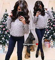 Женский красивый теплый свитер травка свободный tez904498, фото 1