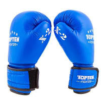 Боксерские перчатки TopTen X-2 кожа, 8,10,12oz, синий