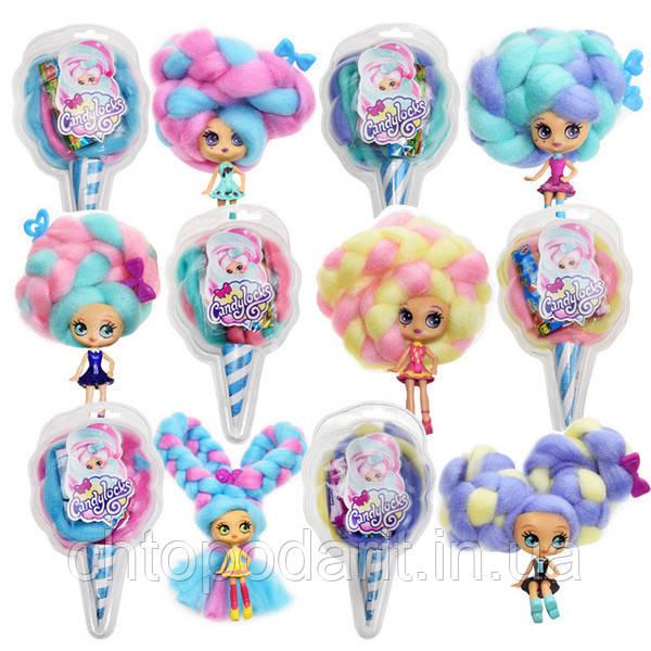"""Кукла """"Кендилукс сладкая вата"""" Candylocks с цветными волосами Код 12-2328"""