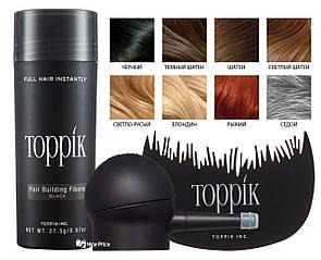 Кератиновый загуститель для волос Toppik 27,5г + аппликатор + гребешек