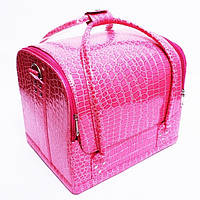 Кейс для косметики Крокодил кожзам Розовый