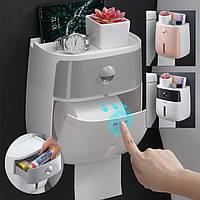 Держатель для туалетной бумаги Настенный самоклеящийся держатель для салфетки Коробка Для рулонной бумаги Кухонная бумага Папиросная бу - 1TopShop