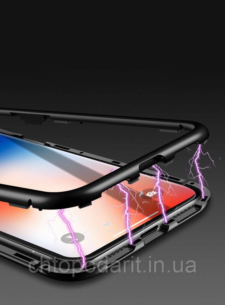 Магнитный чехол на Iphone iphone X/10, Xs, Xs Max черный Код 10-1985