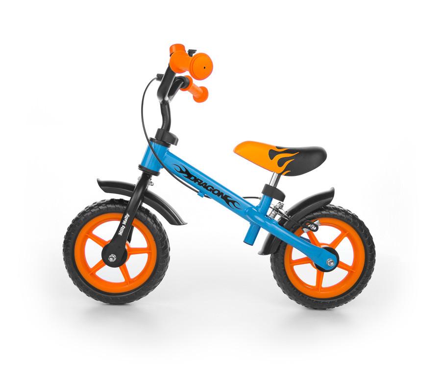 702 Беговел Milly Mally Dragon с тормозом (синий с оранжевым(Blue Orange))