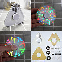 5шт Geekcreit® DIY Круглый треугольник LED POV Вращающийся ручник Spinner SMD Learning Набор - 1TopShop