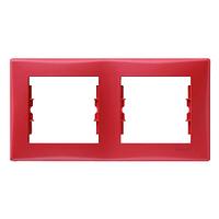 Рамка 2 пост. горизонтальная Красная Schneider Sedna SDN5800341