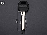 Заготовка ключа BAODEAN полукруглый 8 мм с пластиковой ручкой (латунь)