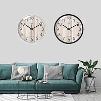 30 СМ Круглая Деревянная Стена Часы Современный Дом Гостиная Кухня Висячие Часы Декор-1TopShop